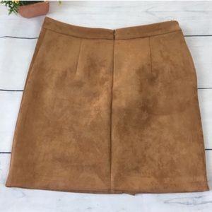MAJORELLE Skirts - Majorelle Revolve 'Samara' Faux Suede Mini Skirt